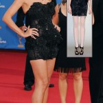 Heidi Klum Black Marchesa dress Emmys 2010