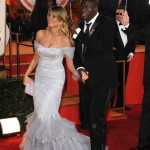 Heidi Klum Cavalli Dress Seal Golden Globes 2010