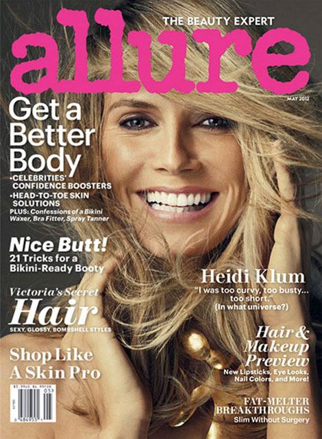 Heidi Klum Shows Her Allure Without Clothes, May 2012