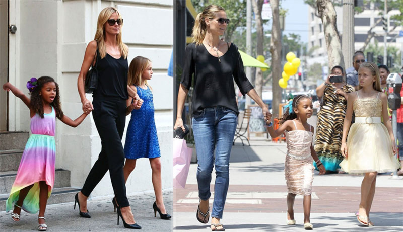 Heidi Klum daughters matching outfits