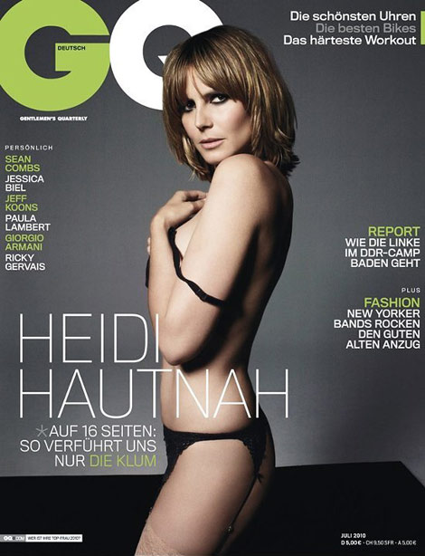 Heidi Klum Does GQ Germany July 2010