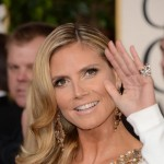 Heidi Klum hair makeup jewelry 2013 Golden Globes