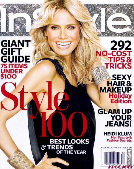Heidi Klum Goes InStyle US In December 2008