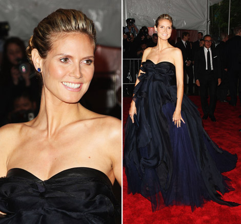 Heidi Klum JMendel Dress Met Gala 2009