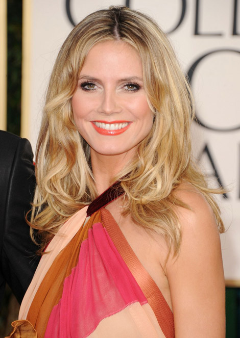 Heidi Klum makeup Golden Globes 2011