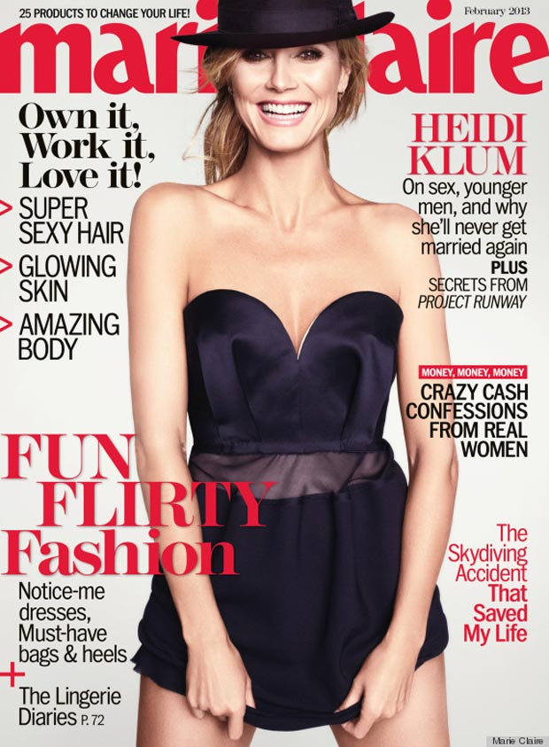 Heidi Klum Marie Claire US February 2013 cover