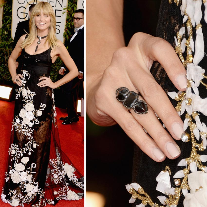 Heidi Klum nails 2014 Golden Globes