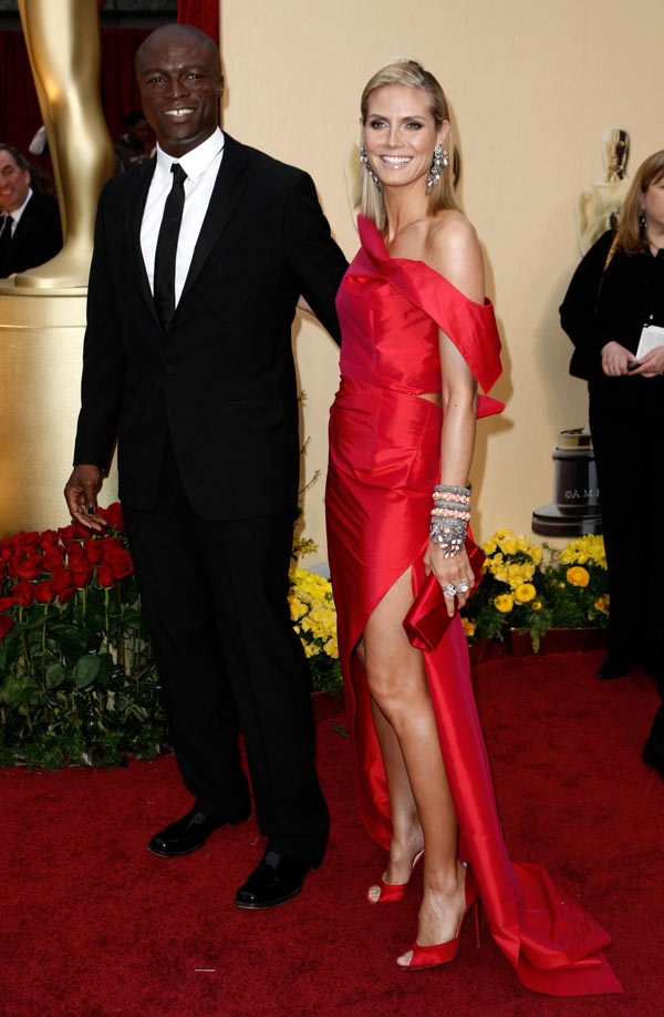 Heidi Klum Roland Moured dress 2009 Oscars 4
