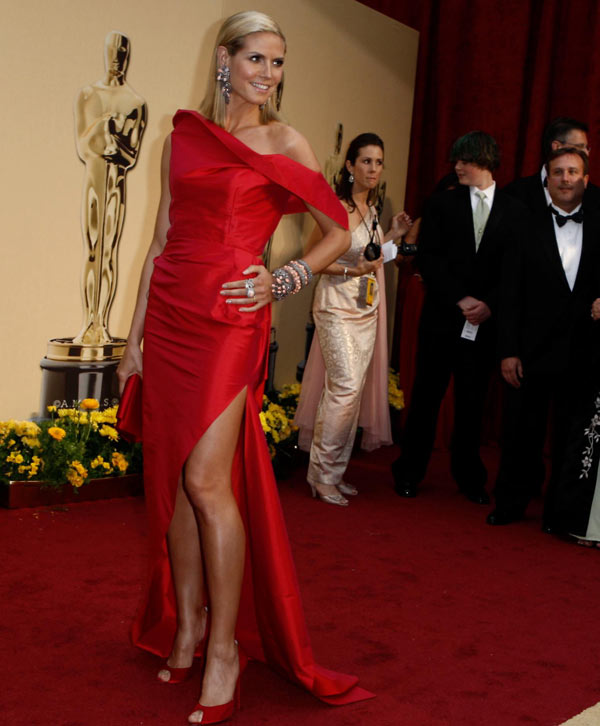 Heidi Klum Roland Moured dress 2009 Oscars 5