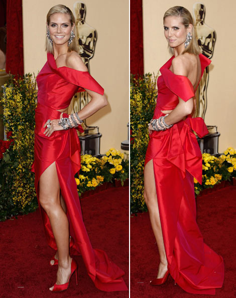 Heidi Klum Roland Moured dress 2009 Oscars