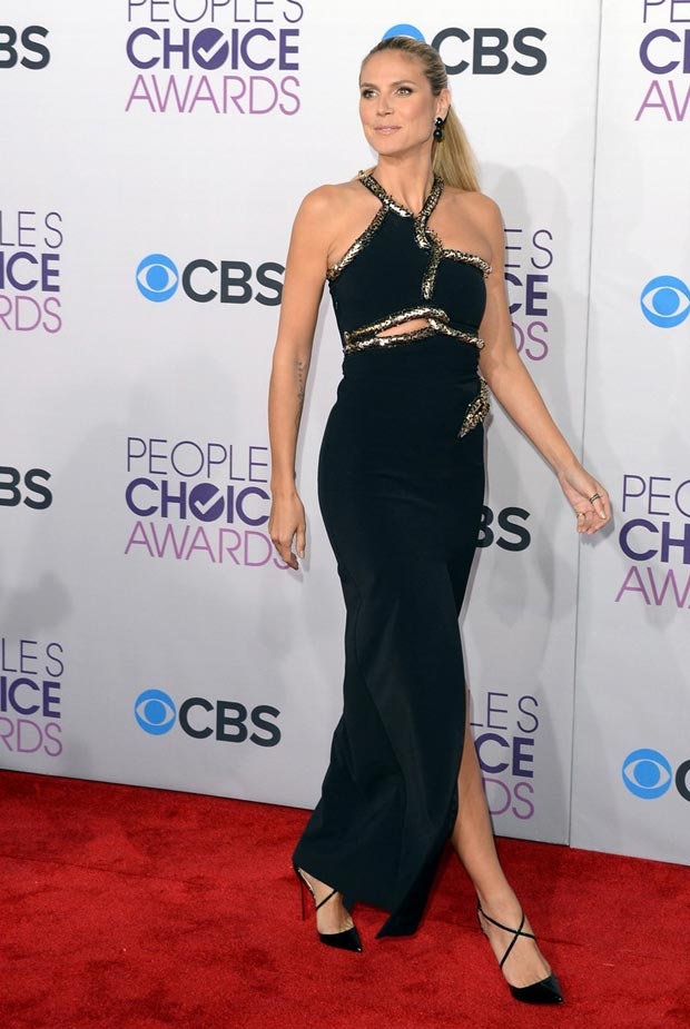 Heidi Klum s edgy dress People s Choice Awards 2013