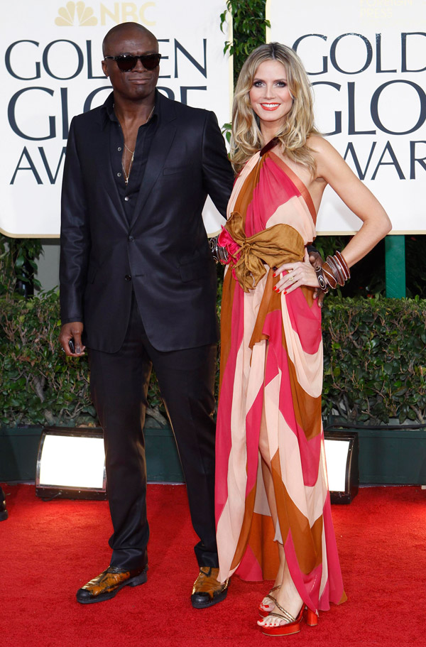 Heidi Klum Seal Golden Globes 2011 1