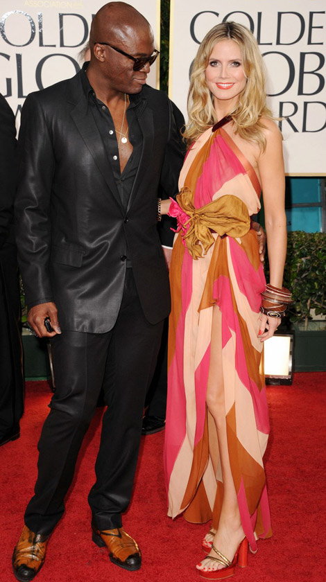 Heidi Klum Seal Golden Globes 2011