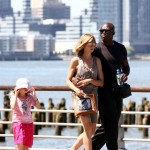 Heidi Klum Seal Walk in the city with the kids