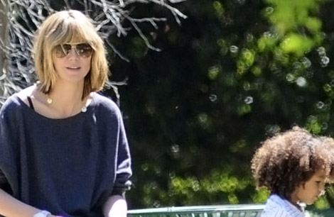 Heidi Klum shorter haircut