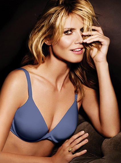 Heidi Klum Victoria s Secret The Perfect One bra blue