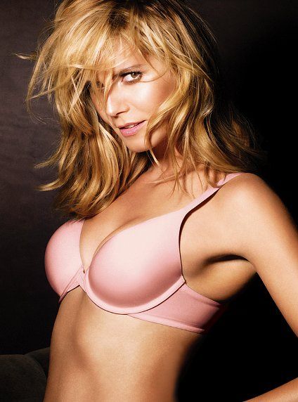 Heidi Klum Victoria s Secret The Perfect One bra pink