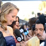 Helen Hunt answering questions at the 2013 Oscars