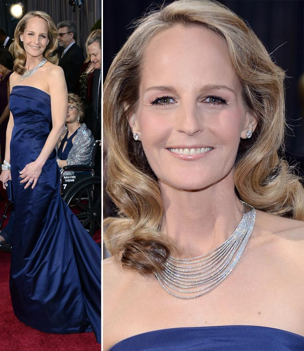 Helen Hunt cheap dress expensive jewelry 2013 Oscars