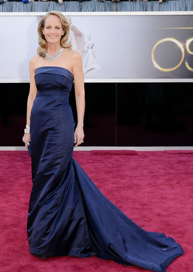 Helen Hunt H and M blue dress 2013 Oscars