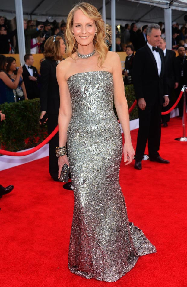 Helen Hunt silver sequined dress 2013 SAG Awards