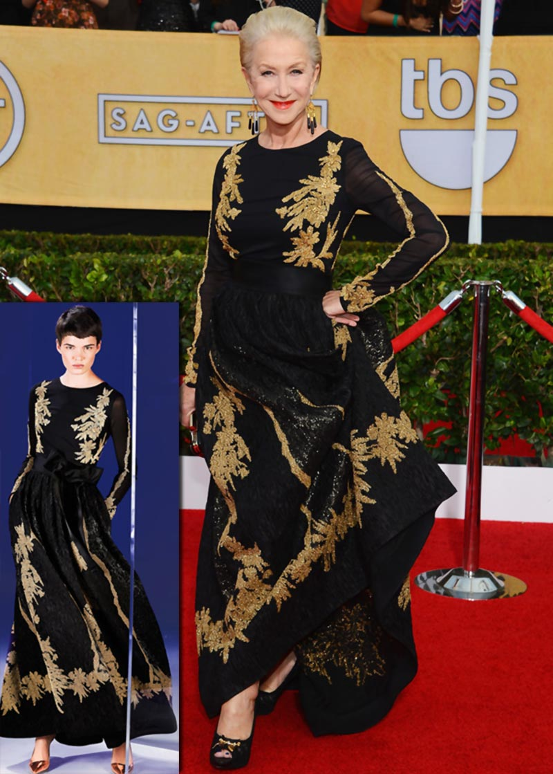 Helen Mirren Escada dress 2014 SAG Awards