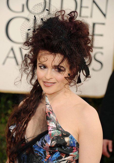 Helena Bonham Carter hair Golden Globes 2011 1