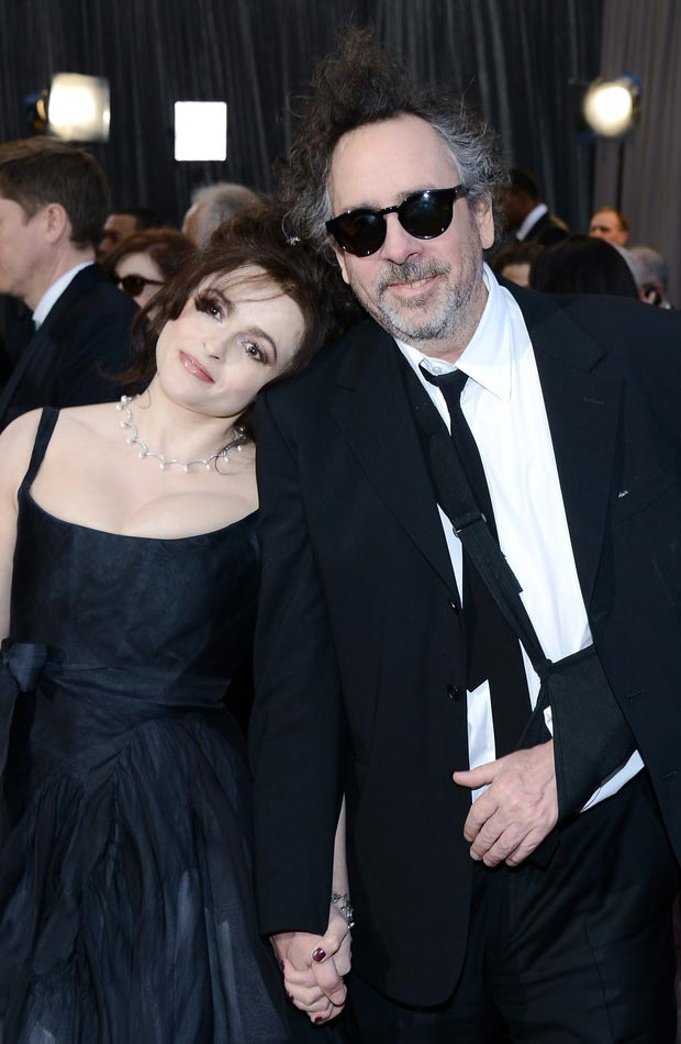 Helena Bonham Carter Tim Burton affectionate 2013 Oscars Red Carpet
