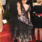 Helena Bonham Carter Vivienne Westwood dress mismatch Golden Globes 2011 3