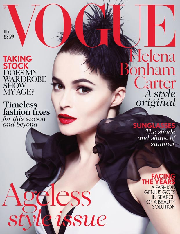 Helena Bonham Carter Vogue UK July 2013 cover