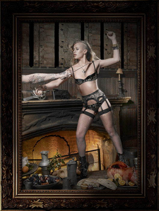Helena Christensen Alice Dellal Agent Provocateur Pirates Collection 5