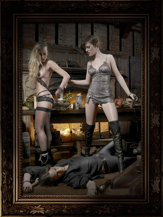 Helena Christensen, Alice Dellal Pirates For Agent Provocateur Collection
