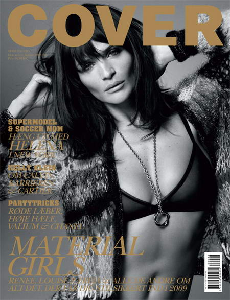 Helena Christensen Cover Magazine December January 2008 2009 cover