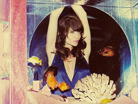 Helena Christensen GQ Magazine September Aquarium