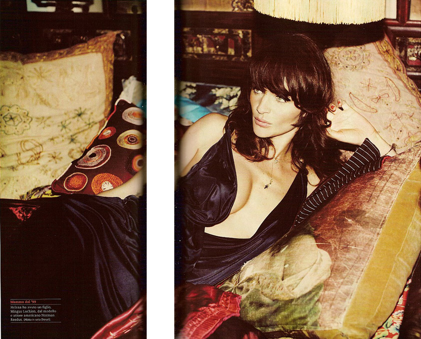 Helena Christensen GQ Magazine September dress