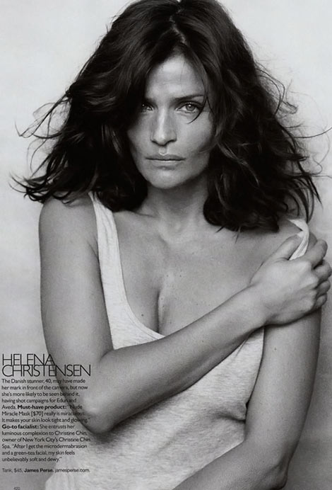 Helena Christensen Supermodels Supernatural Harper s Bazaar September 09