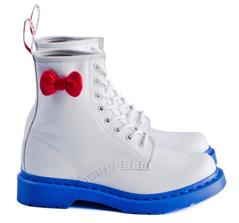 Hello Kitty Dr Martens Boots blue soles red bow