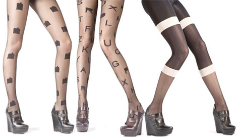 Henry Holland Fall Winter 2009 printed tights collection