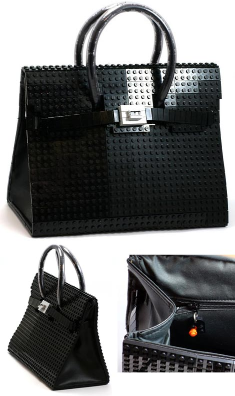 Hermes Birkin bag from Lego bricks