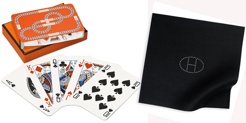 Hermes bridge playing cards bridge mat