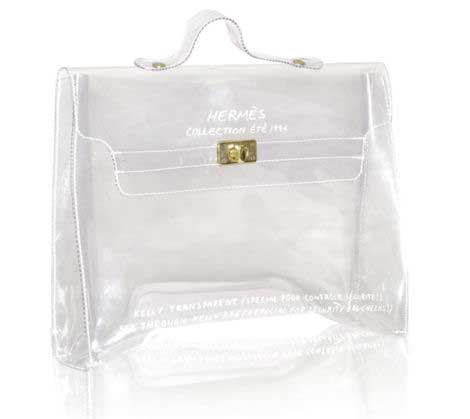 Hermes clear bag