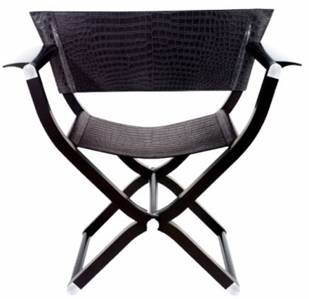 Hermes crocodile Pippa chair