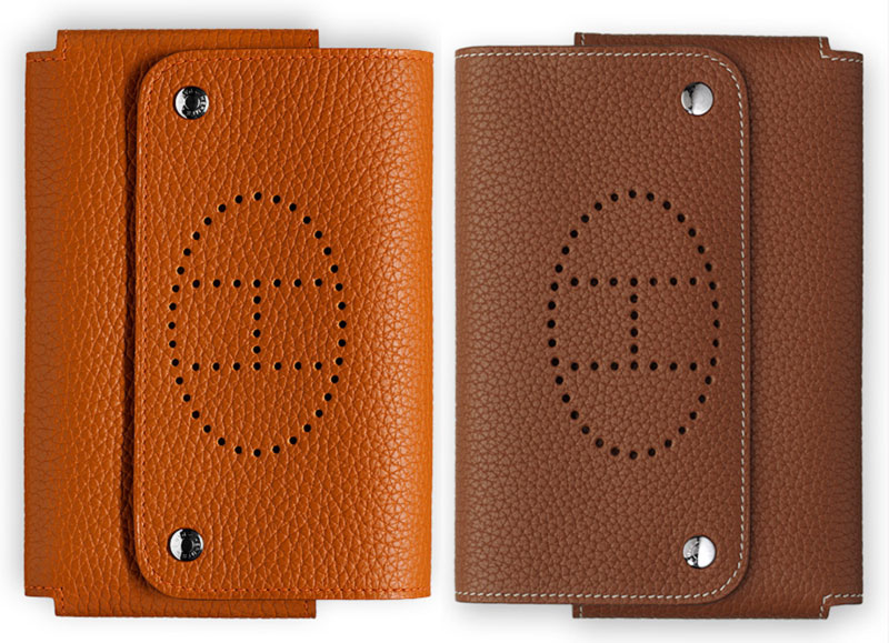 Hermes leather cards holder