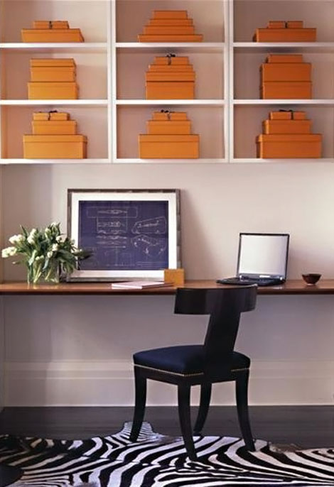 Hermes empty Orange boxes home decor