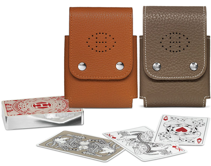 Hermes playing cards leather pouch