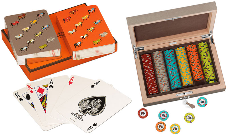 Hermes poker playing cards poker chips