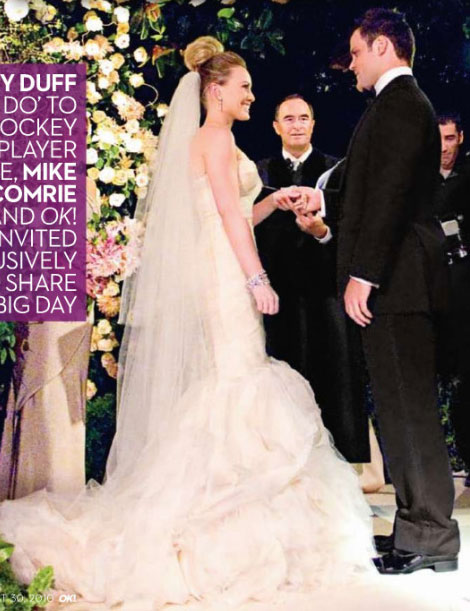 Hilary Duff Mike Comrie wedding ceremony