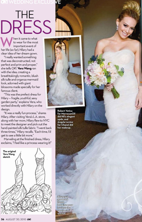 Hilary Duff Vera Wang wedding dress