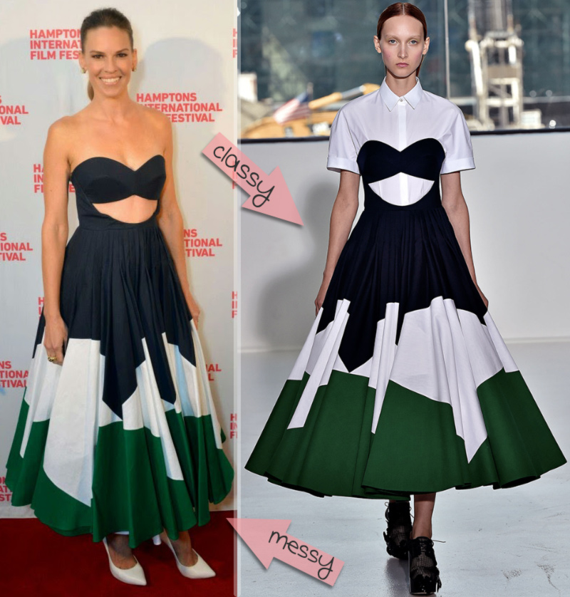 Hilary Swank fashion disaster Red Carpet 2014