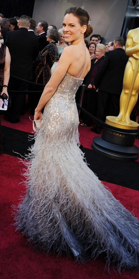 Hilary Swank Gucci Premiere dress 2011 Oscars